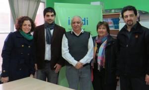 Carolina Karagueuzian, Nicolás Sabuncuyan, Isaías Álvarez, Susana Sary y Alejandro Avakian en la delegación del INADI