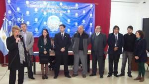 Alicia Keuchkarian (izq.) junto a los concejales y los representantes del CNA-Buenos Aires