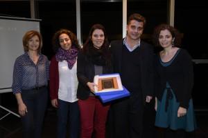 De izq. a der.: Elizabeth Rizian, del Equipo de Educación del CNA, Violeta Rosemberg, María Rosendfeldt, Rubén D´Audia y Carolina Karagueuzian