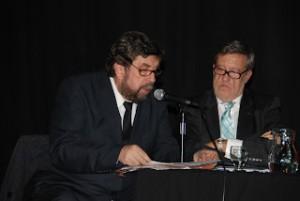 Los periodistas Alejandro Apo y Ariel Crespo