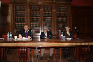 Henry Thériault, Khatchik DerGhougassian y Daniel Feierstein