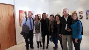 De izquierda a derecha: Ignacio D'Asero, Diana Hamra, Tália Meschiany, Marcela Moreno Buján, Carolina Karagueuzian, Luis Alberto Messa y Elizabeth Rizian.