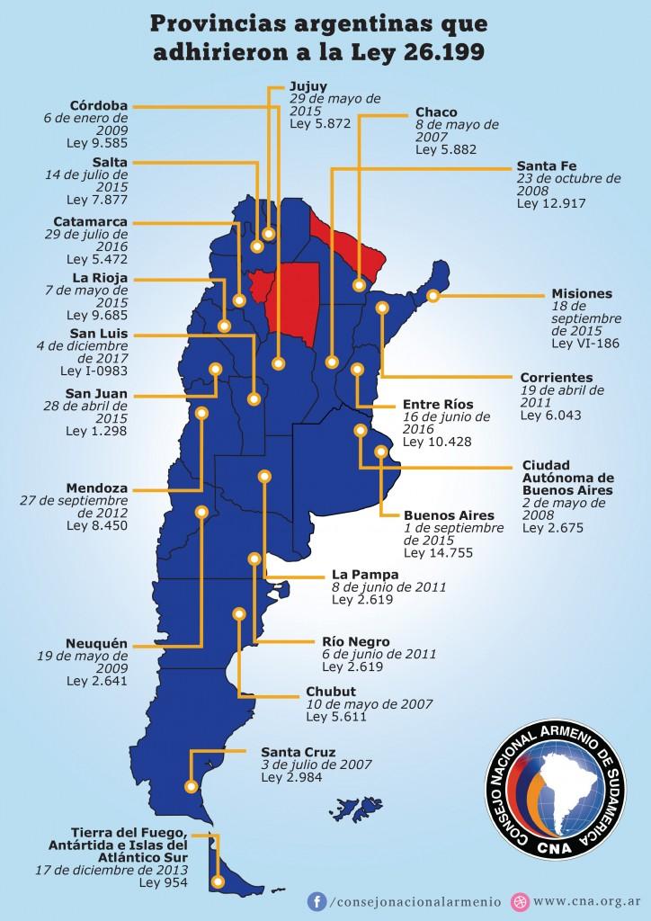 mapa CNA actualizado 2017