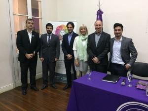 De izq. a der.: Fabián Neiman, Nicolás Sabuncuyan,  Ariel Isaak, Catalina Lonac, Julián Schvindlerman y Ramiro Granado.