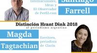 """El Consejo Nacional Armenio otorgará la Distinción """"Hrant Dink"""" 2018al periodismo argentino a Santiago Farrelly aMagda Tagtachian.La entrega se realizará eljueves 23 de agosto a las 20:00hs en la Asociación […]"""