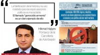 (Agencia Prensa Armenia) Distintos sectores de la comunidad armenia de Argentina emitieron hoy un comunicado pidiendo cancelar una charla la Facultad de Derecho de la Universidad de Buenos Aires (UBA) […]