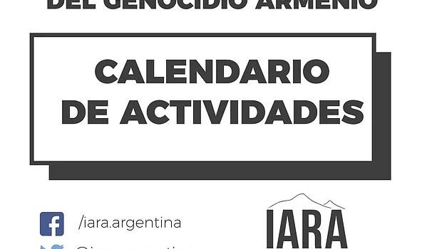 Domingo 21 de abril – Córdoba – 18 hs – Concentración y marcha por el 104º aniversario del Genocidio Armenio en la Plaza Vélez Sarsfield sobre Av. Hipólito Yrigoyen. – […]
