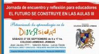 El Colegio Armenio Jrimianorganiza el seminario«El futuro se construye en las aulas«, destinado a docentes y a personas interesadas en temáticas educativas y su relación con la diversidad y los […]