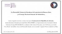 El Consejo Nacional Armenio junto a la Honorable Cámara de Senadores de la Provincia de Buenos Aires, invitan al Acto Conmemorativo por el Centenario de la República de Armenia. En […]
